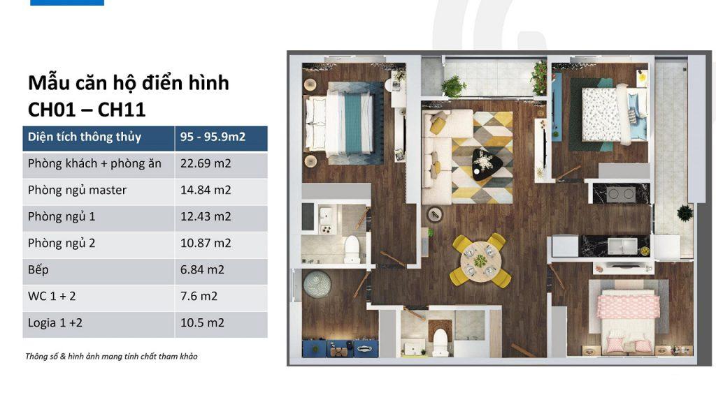 thiết kế căn hộ ch01 và ch11