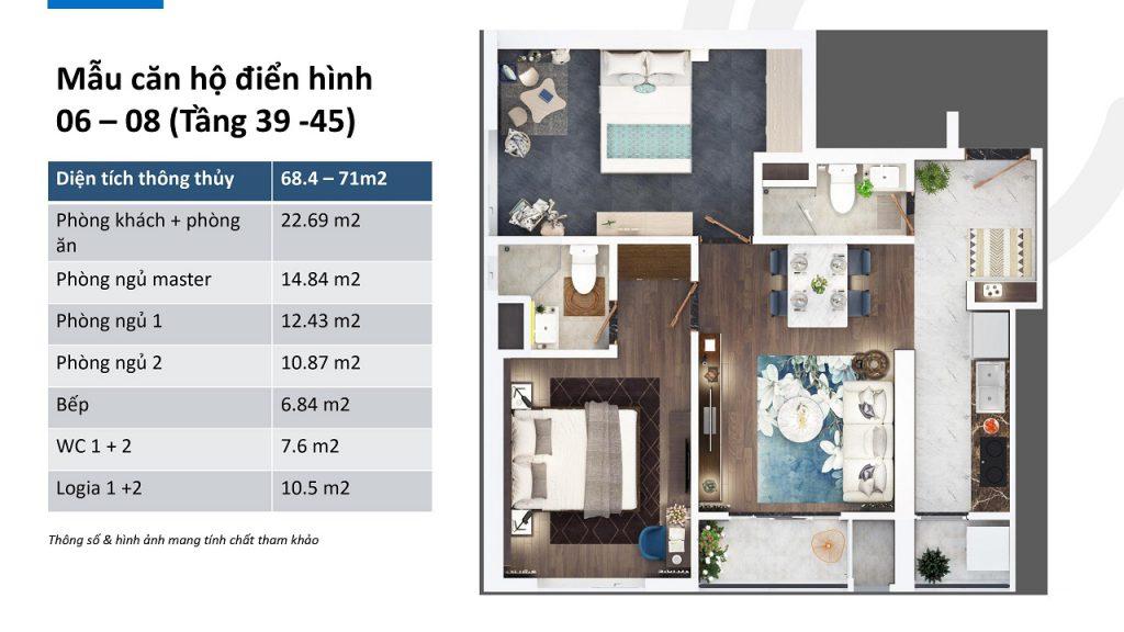 thiết kế căn hộ ch06 ch08 tầng 39 - 45