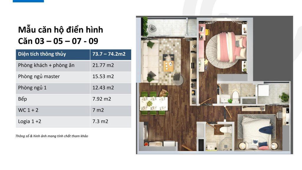 thiết kế căn hộ ch03, ch05, ch07, ch09