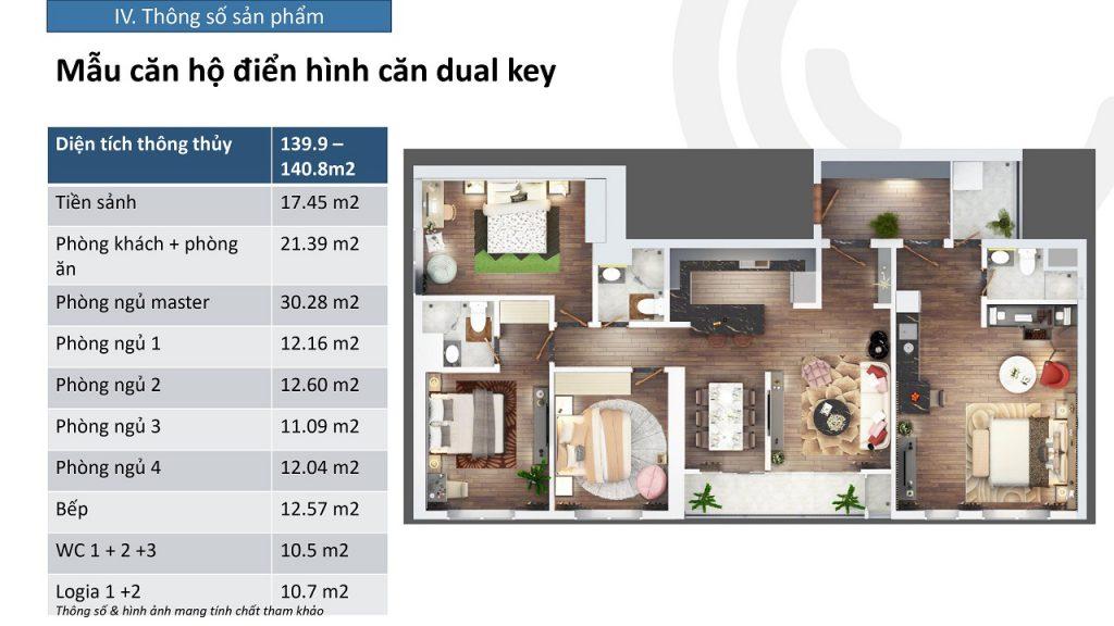 thiết kế căn hộ dual key