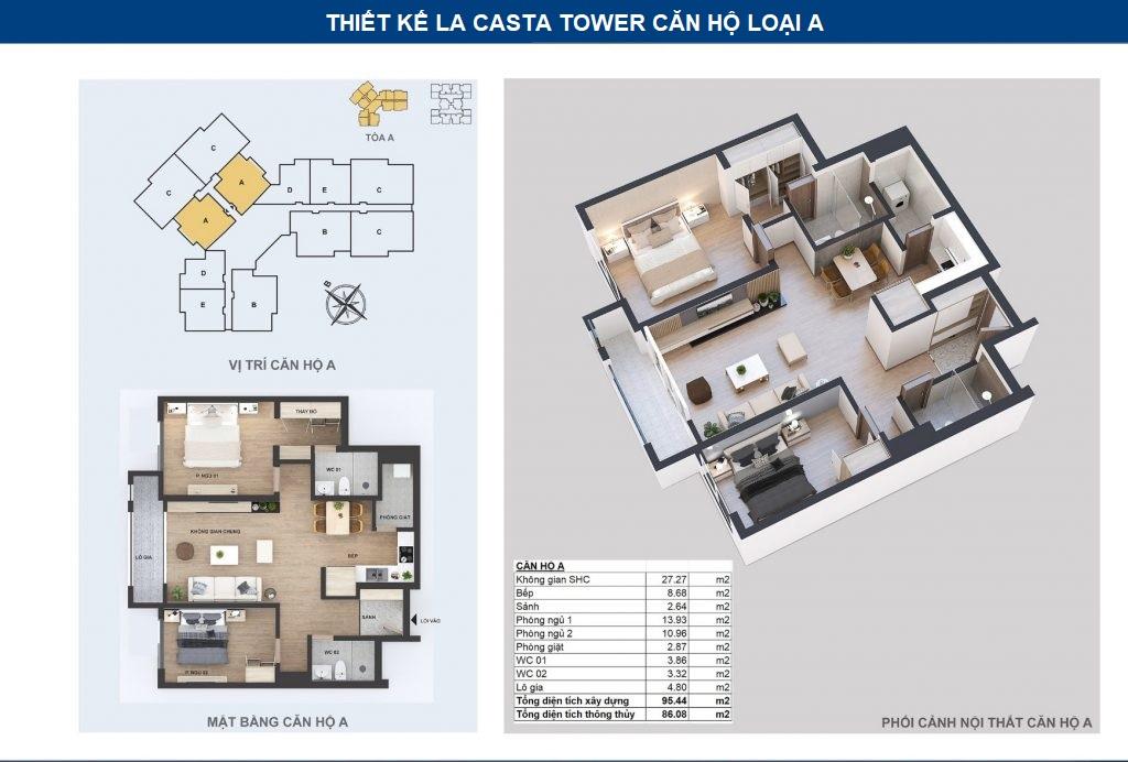 thiết kế căn hộ la casta tower