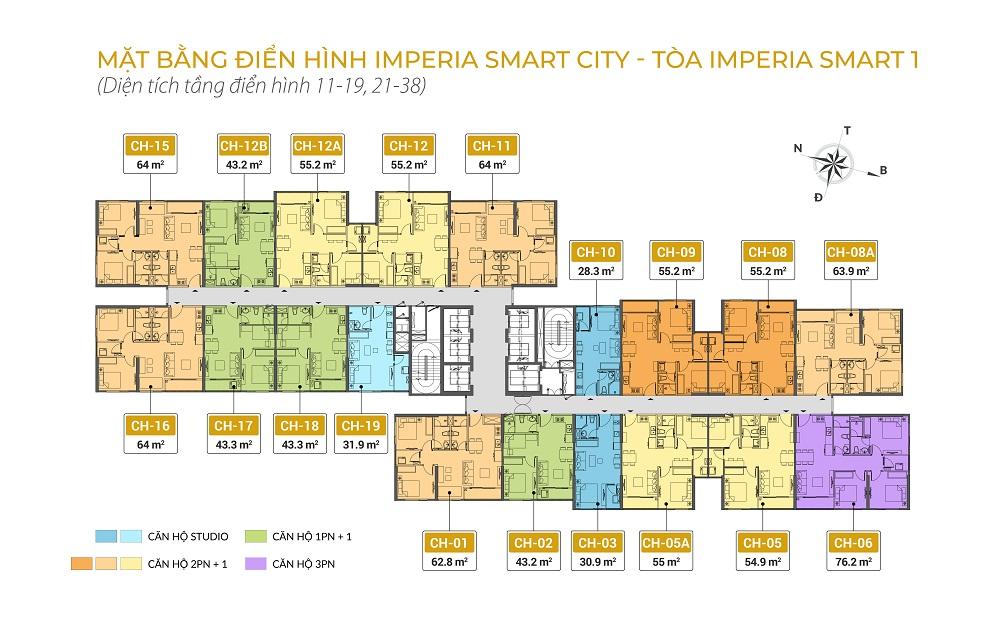 mặt bằng tòa is1 dự án imperia smart city