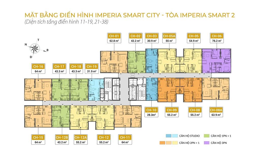 mặt bằng tòa is2 dự án imperia smart city