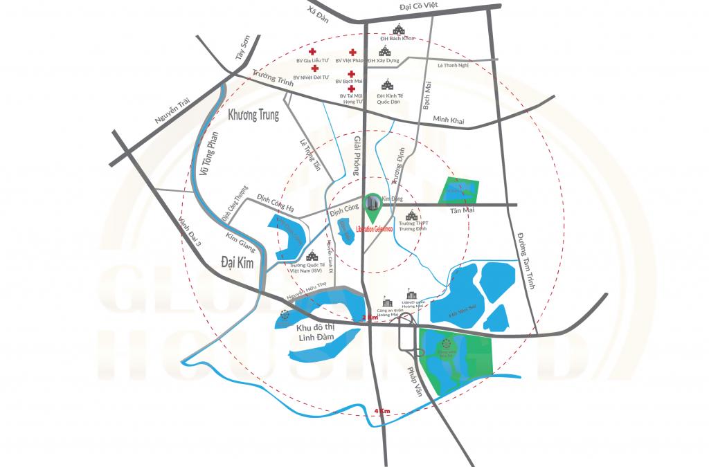 vị trí dự án liberation geleximco