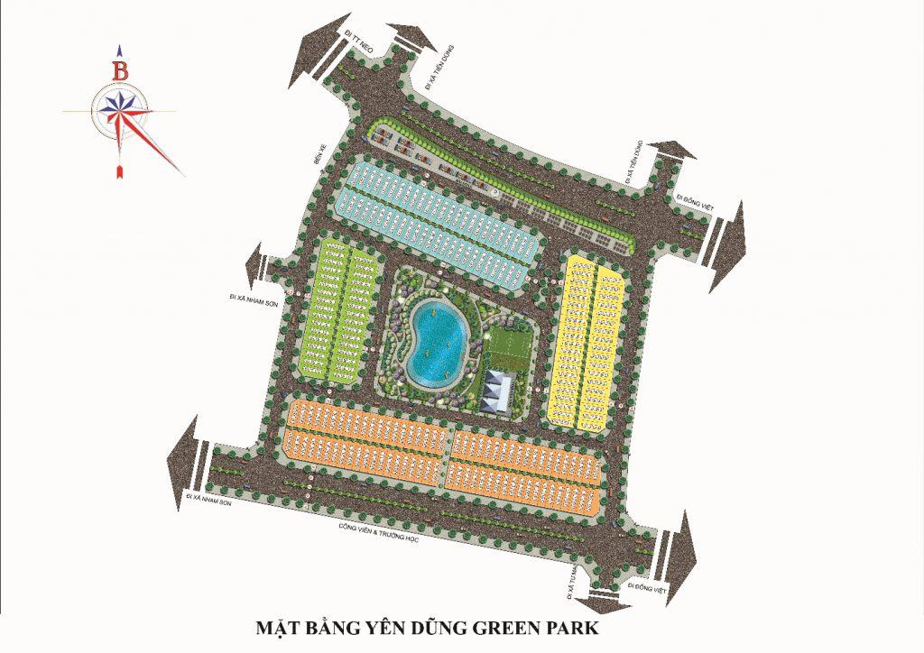 mặt bằng dự án yên dũng green park