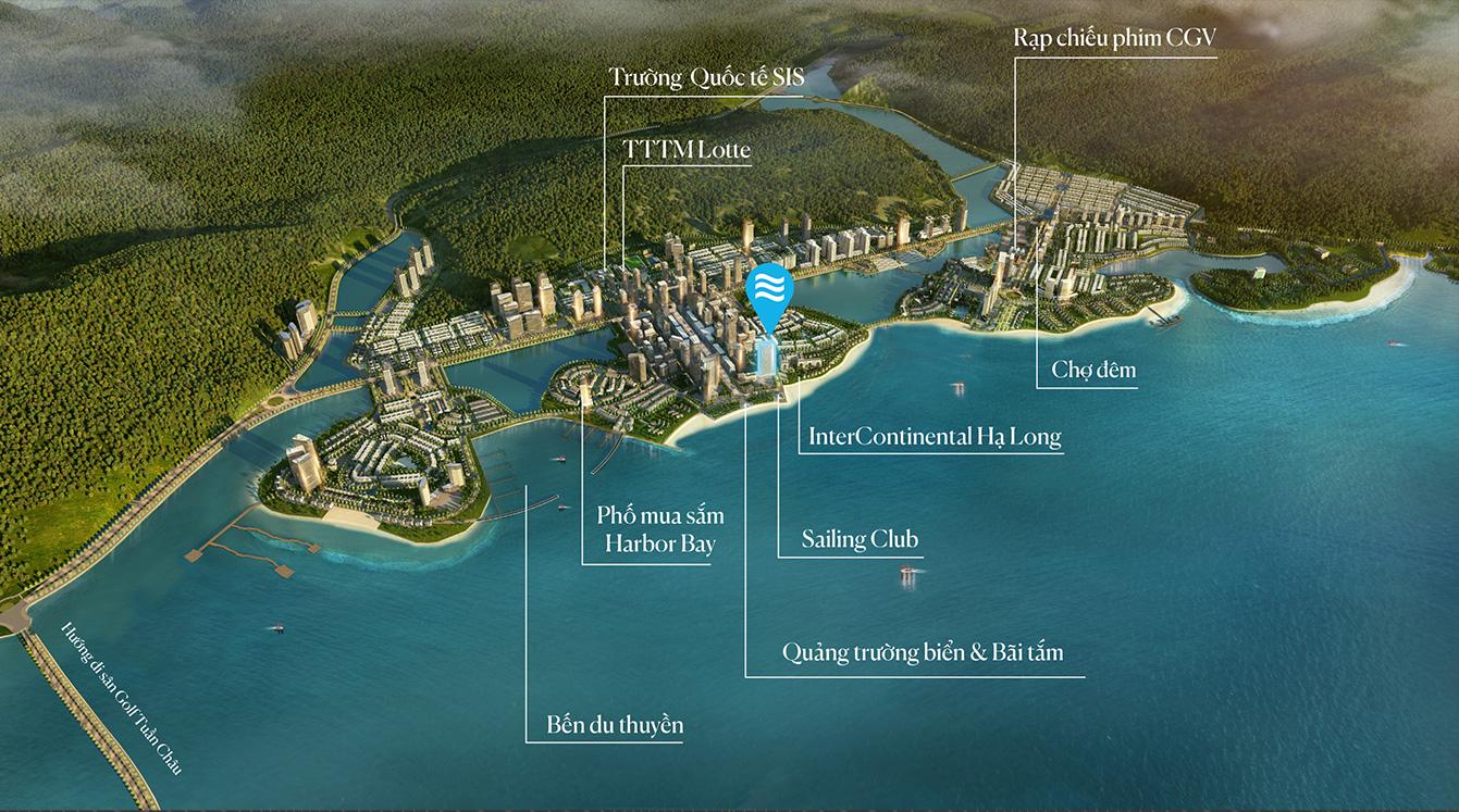 vị trí dự án a la carte hạ long bay