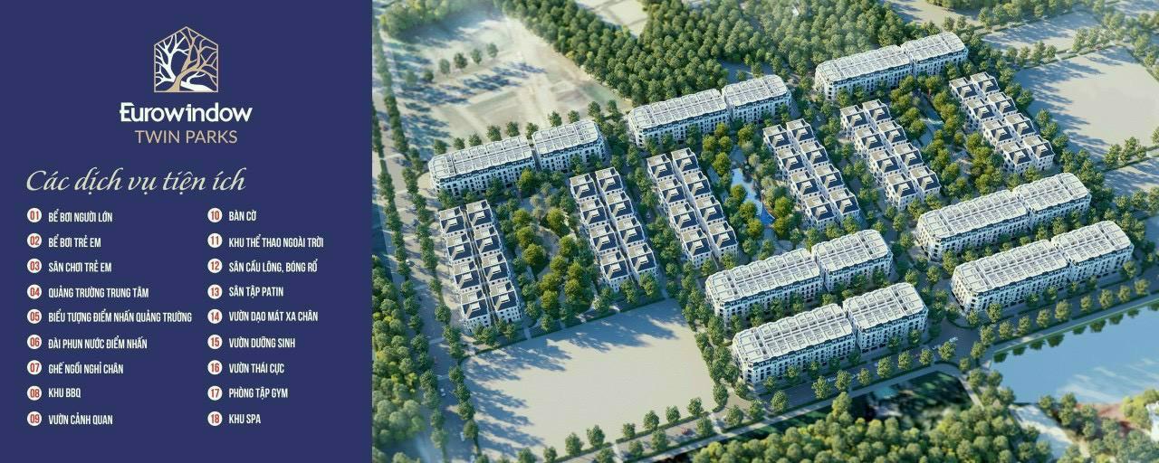 tiện ích dự án eurowindow twin parks trâu quỳ gia lâm
