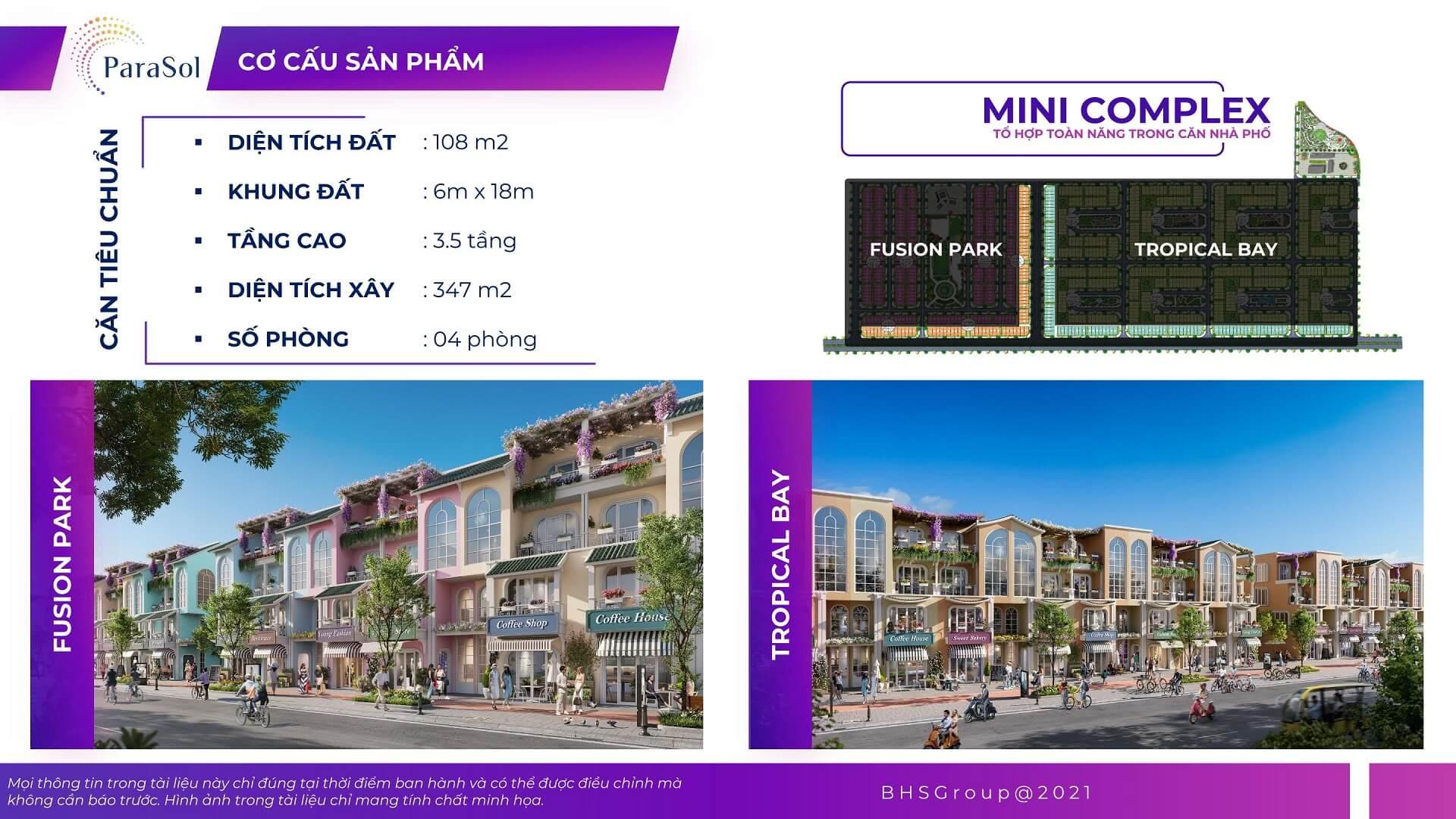 mini complex dự án para sol cam ranh