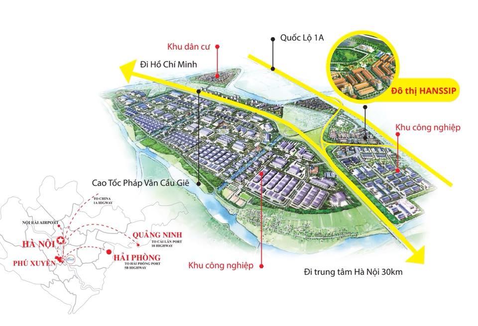 vị trí dự án phú xuyên new city
