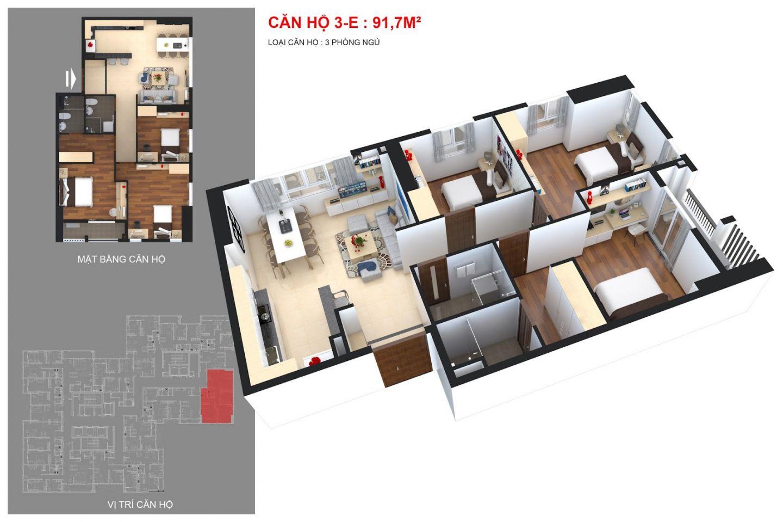 thiết kế căn hộ chung cư goldsilk city