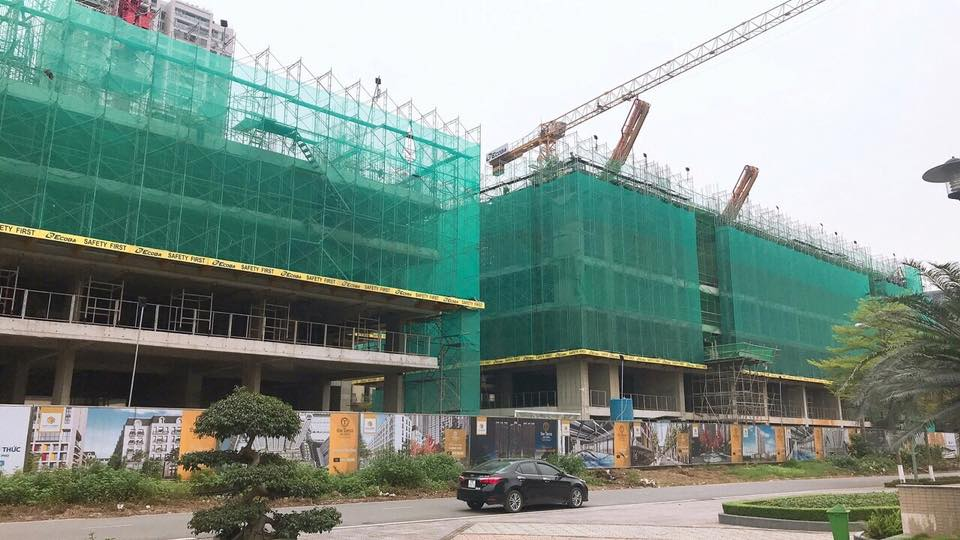 tiến độ xây dựng chung cư the terra an hưng