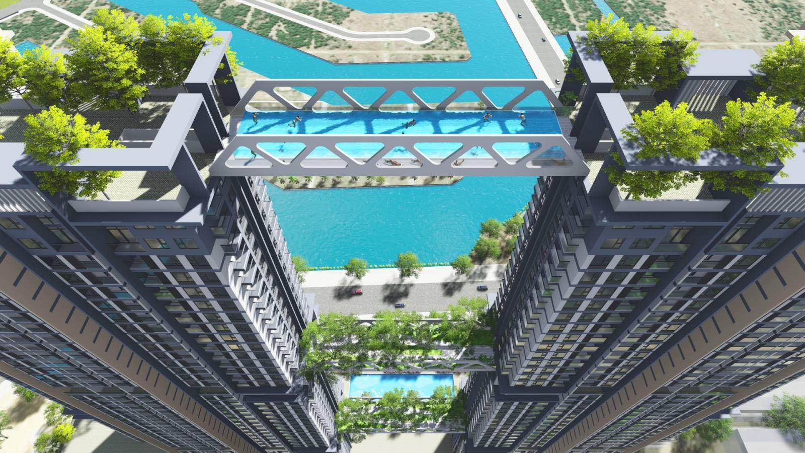 bể bơi vô cực sky oasis