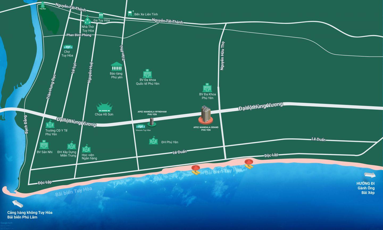 vị trí dự án condotel apec mandala grand phú yên