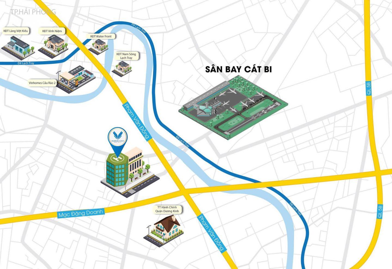 vị trí dự án dương kinh new city