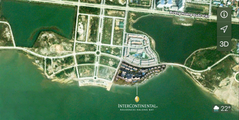 vị trí dự án intercontinental residences hạ long bay
