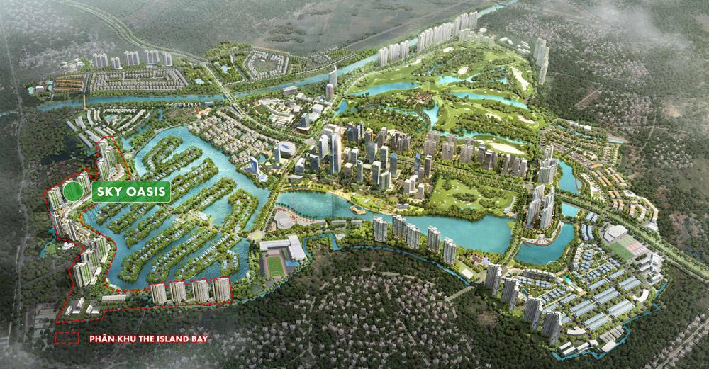 vị trí dự án sky oasis ecopark