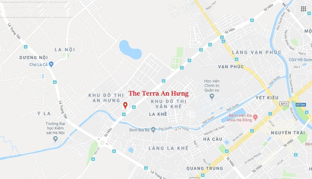 vị trí the terra an hưng